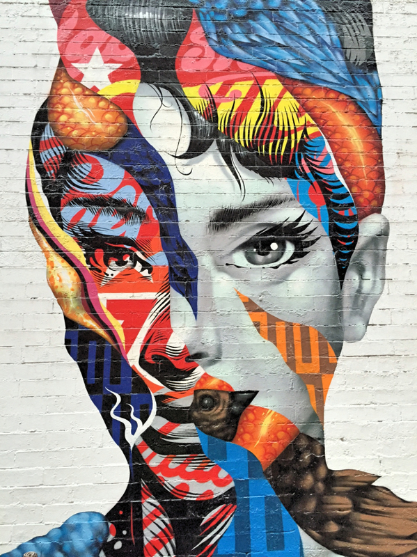 Audrey Hepburg by Tristan Eaton streetart run Lower East Side