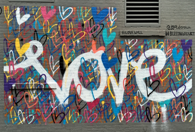 Bleeding hearts streetart run Lower East Side
