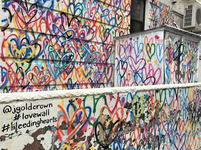 James Goldcrown lovewall streetart run Lower East Side
