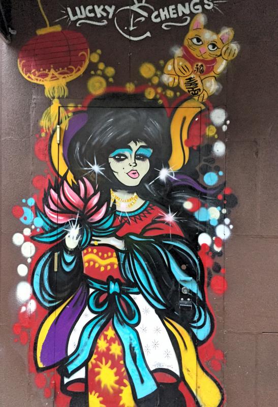 Lucky Chengs streetart run Lower East Side