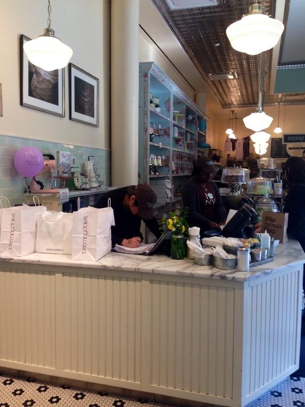 Inside the Magnolia Bakery in Bloomingdales
