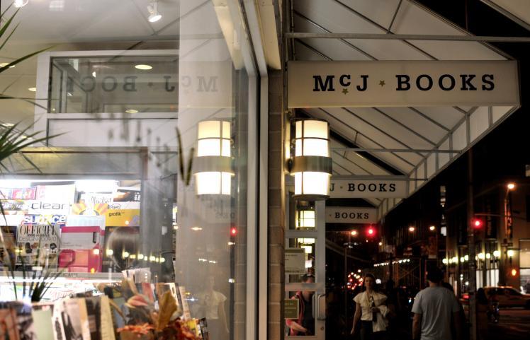 McNally Jackson Bookstore window