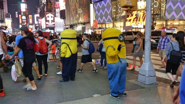 Minions at Times Square