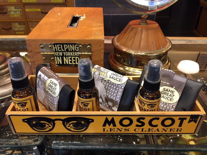 Moscot counter in the Lower East Side