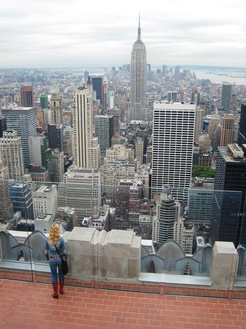 View on Empire State from Top of the Rock