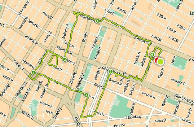 Route streetart run Lower East Side