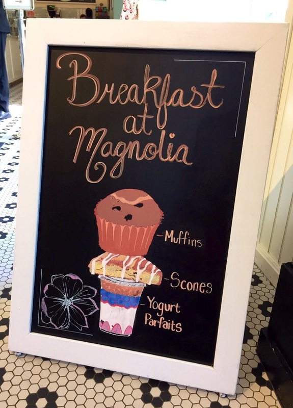 Sign at Magnolia Bakery