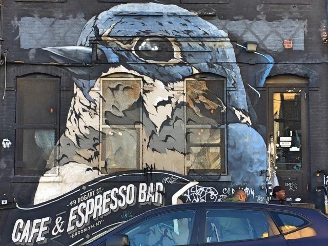 Swallow Cafe streetart Bushwick Brooklyn