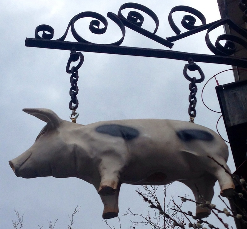 The Spotted Pig sign
