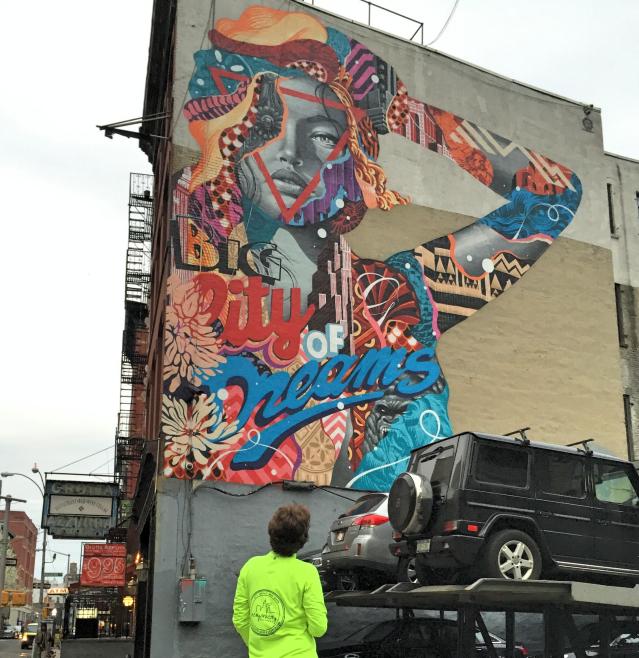Lisa Project streetart run Lower East Side