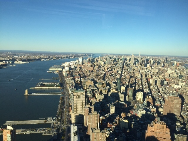 View on Empire State from One World Observatory