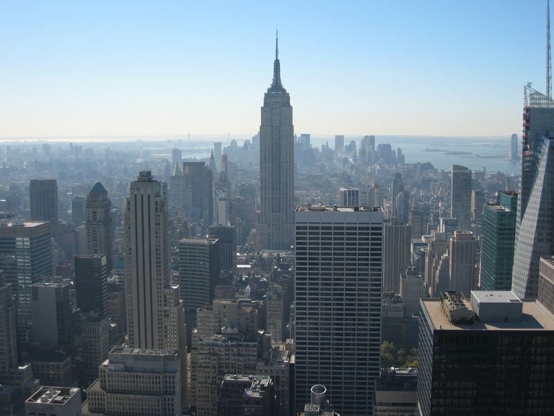 View on Empire State from Top of Rock