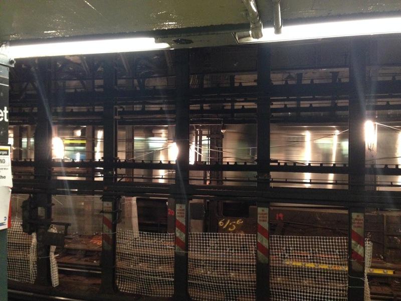 inside a subway station