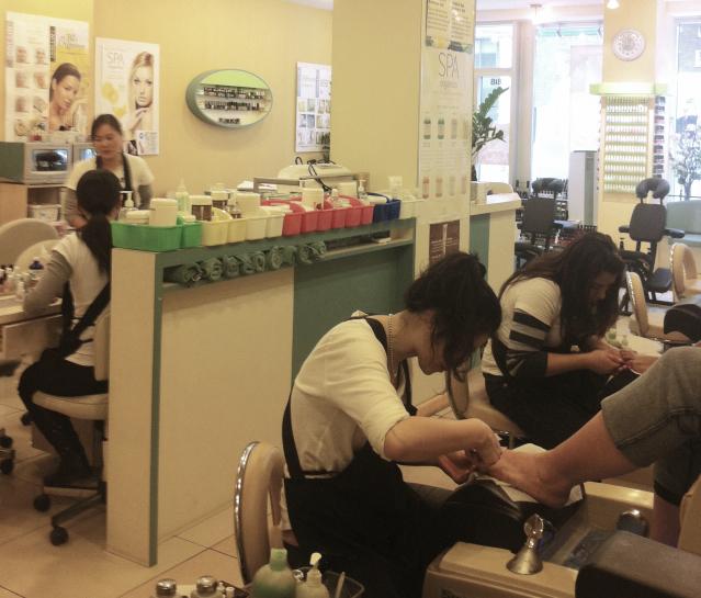 pedicure at Orchard Street Nails