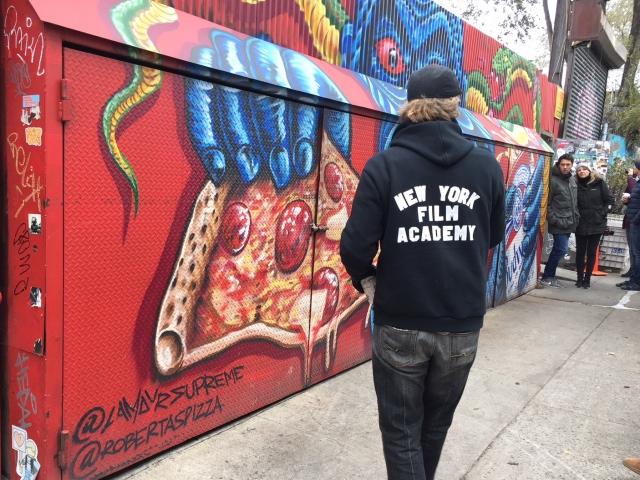 Bushwick streetart tour at Roberta's Pizza