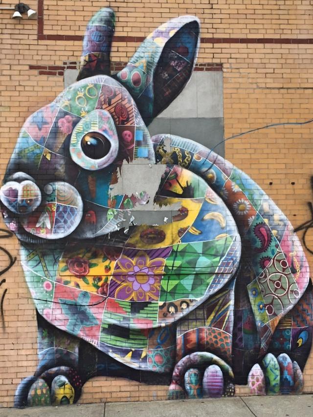 Bushwick streetart tour Troutman bunny