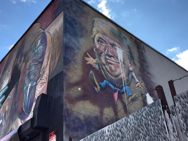 Bushwick streetart tour Wyckoff Ave Donald Trump