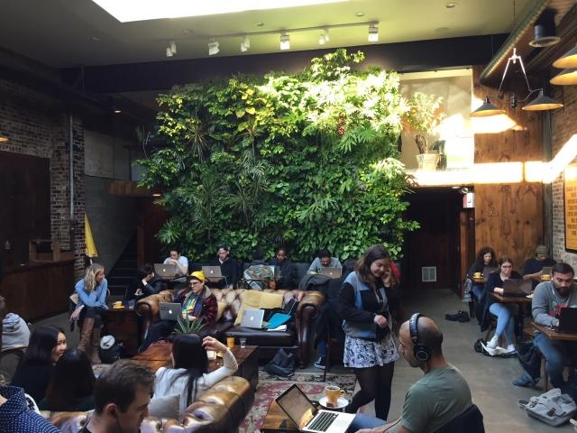 Devocion coffeeshop vlakbij Pod Brooklyn hotel