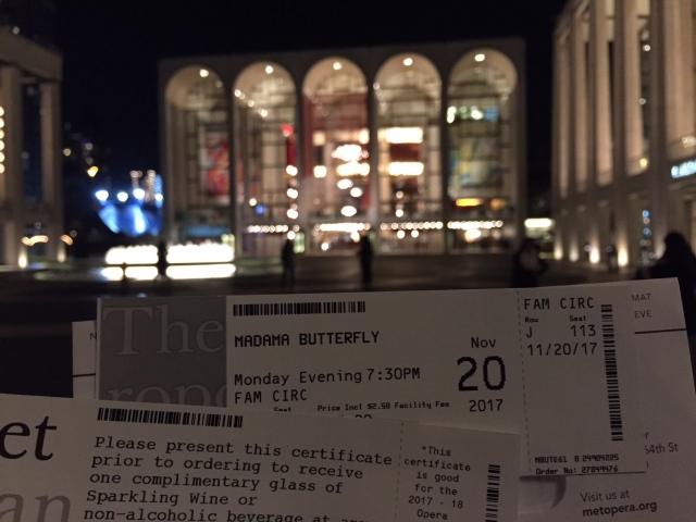 Kaartjes Metropolitan Opera Madame Butterfly